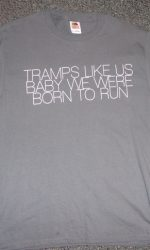 bruce springsteen tramps like us t-shirt