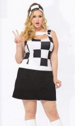 Trippy Trixie gogo mod plus size dress