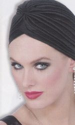 roaring twenties black turban hollywood turban