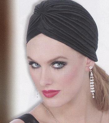 roaring twenties black turban hollywood turban