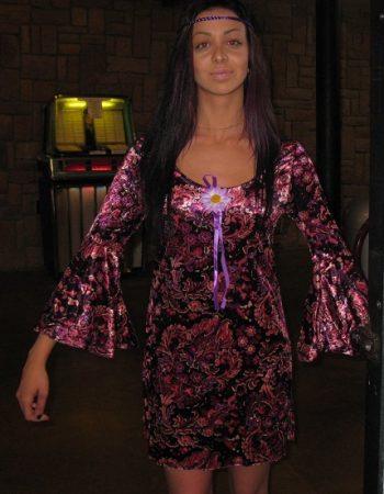 60s velvet gogo girl dress