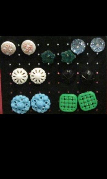 Vintage button earrings handmade earrings