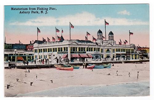 Vintage Asbury Park postcard Natatorium