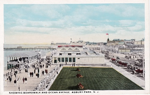 Vintage Asbury Park postcard Ocean Avenue