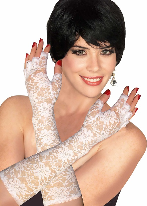 white lace gloves Like A Virgin