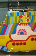 yellow submarine lunchbox tin tote