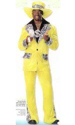 Zebra trimmed pimp suit pimp costume
