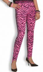 1980s zebra pink stirrup pants