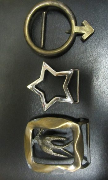 60s vintage belt buckle Peace buckle Male symbol Star buckle