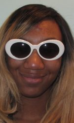 Jackie O glasses Mod white sunglasses