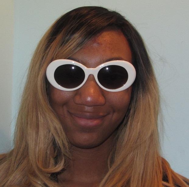 6751926a16 Jackie O glasses mod large oval white sunglasses