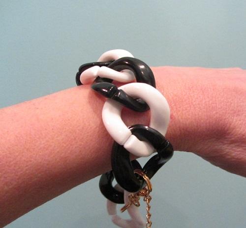 mod black and white bracelet