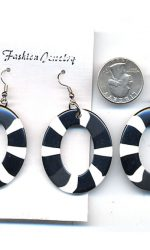 black and white earrings hoop earrings