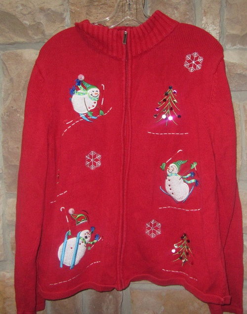 ugly Christmas cardigan