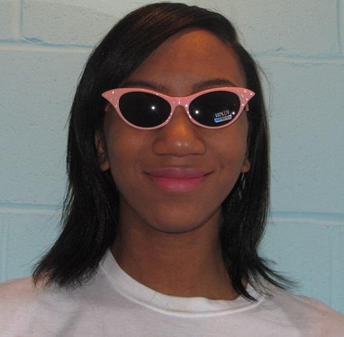 cat eye sunglasses salmon pink