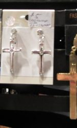 1980s madonna cross earrings