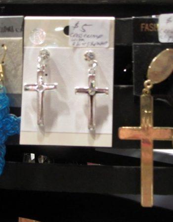 1980s madonna cross earrings