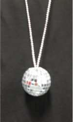 1970s disco ball necklace