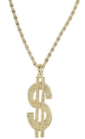 Dollar sign necklace Money necklace
