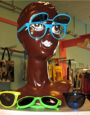 1980s neon flip up sunglasses