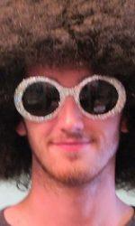 glitter Elton John glasses