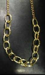 gold link chain disco chain