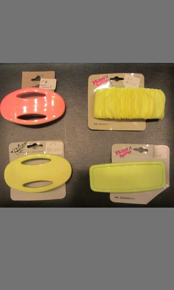 1980s hair barrettes