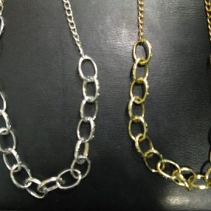 1970s disco gold link chain