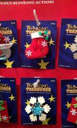 Light up Christmas pins Twinkling Treasures