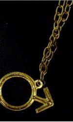 austin powers male symbol necklace