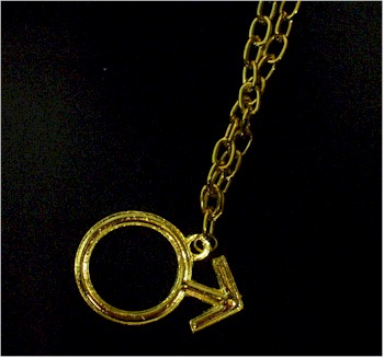 austin powers male symbol necklace