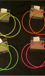 day-glo large hoop earrings neon hoops