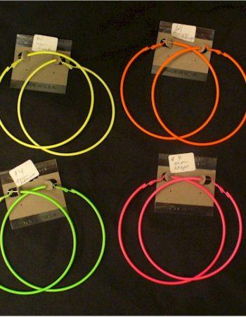 day-glo large hoop earrings neon hoops