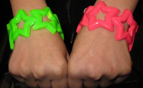 1980s neon star bracelet