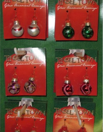 glass ornament Christmas earrings
