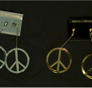 1960s peace sign earrings