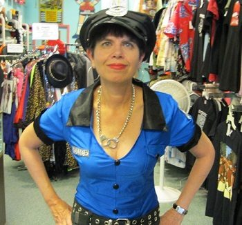 sexy police woman costume shirt