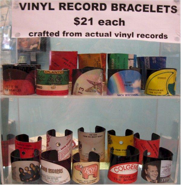record album cuff bracelets