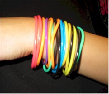80s rubber bracelets black rubber bracelets
