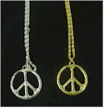 60s funky fashion peace necklaces