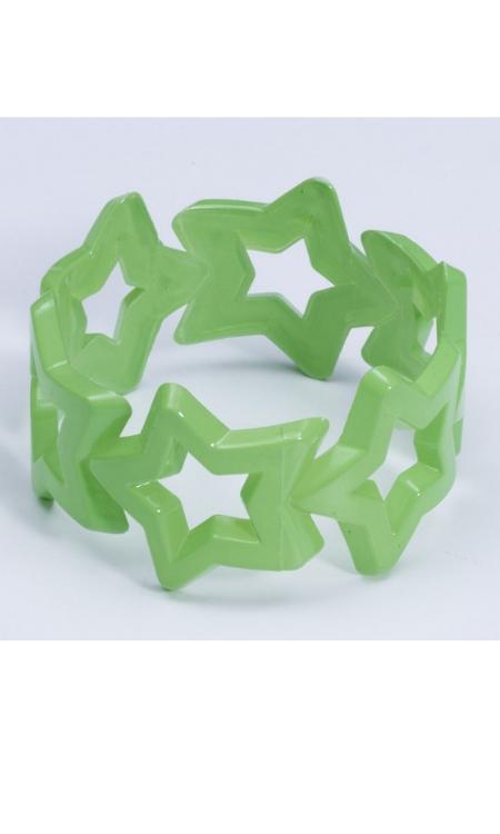 80s neon star bracelet
