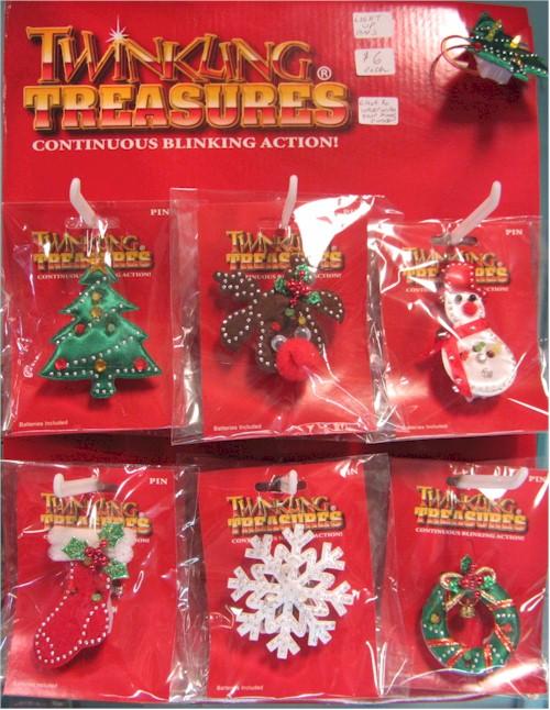 light up christmas pins - Christmas Pins
