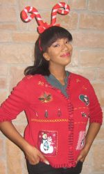 ugly Christmas cardigan sweater
