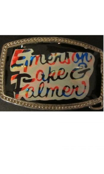 Emerson Lake Palmer belt buckle vintage belt buckles