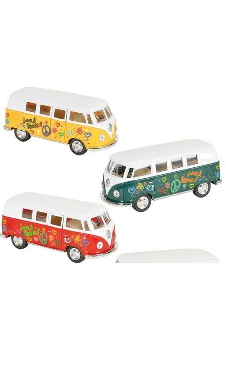 Hippe VW bus Flower power van