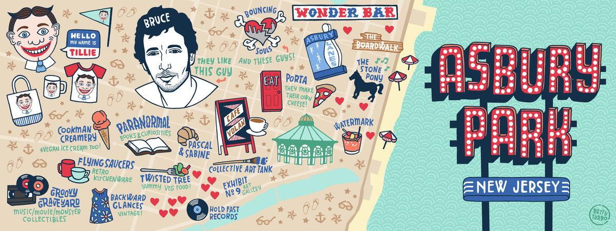 i heart asbury park travel map