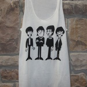 beatles cartoon tank top