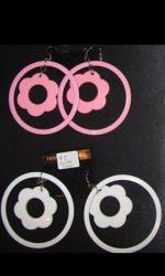 flower hoop earrings 60s hoops