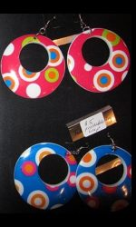 Psychdelic 60s earrings hoop earrings