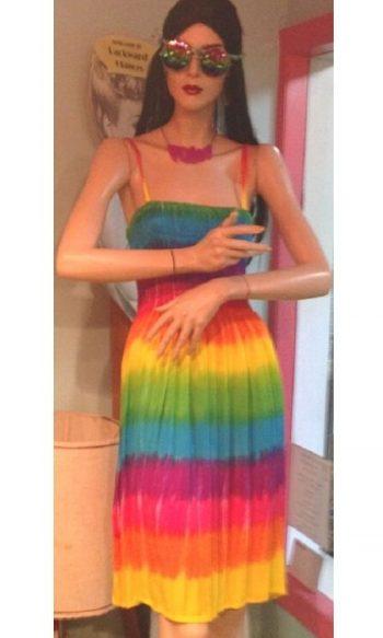 Tie dye dress rainbow dress